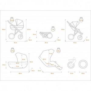 Colchoneta de algodón transpirable para silla de paseo - Jané
