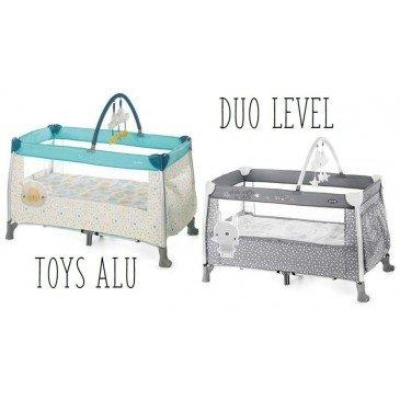 Cuna de viaje de dos niveles Duo Level Toys Alu
